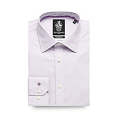 Jeff Banks - Big and tall lilac vertical block striped formal shirt