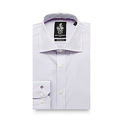 Jeff Banks - Lilac dotted tailored fit shirt