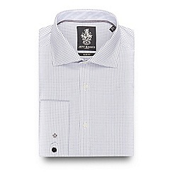 Jeff Banks - Big and tall white mini circle print slim fit shirt