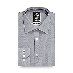 Jeff Banks - Big and tall grey floral print slim fit shirt