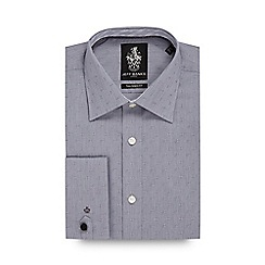Jeff Banks - Big and tall grey printed tailored shirt