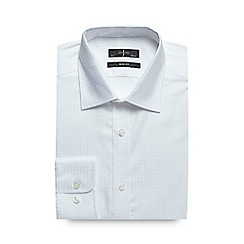 J by Jasper Conran - Big and tall white grid texture formal shirt