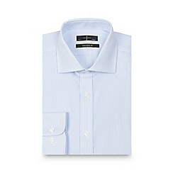 J by Jasper Conran - Big and tall light blue striped shirt