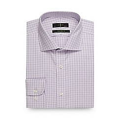 J by Jasper Conran - Big and tall lilac grid check print tailored fit shirt