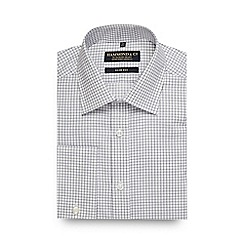 Hammond & Co. by Patrick Grant - White mini check print slim fit shirt