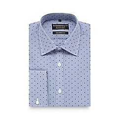 Hammond & Co. by Patrick Grant - Blue textured striped tailored fit shirt