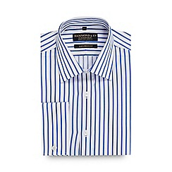 Hammond & Co. by Patrick Grant - Big and tall blue royal stripe tailored fit shirt