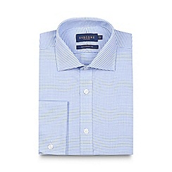 Osborne - Big and tall blue puppytooth tailored shirt