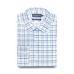 Osborne - Big and tall blue checked print shirt