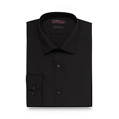Red Herring - Big and tall black slim fit shirt