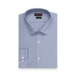 Red Herring - Big and tall blue fine stripe slim fit shirt