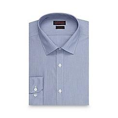 Red Herring - Big and tall blue fine stripe slim fit shirt
