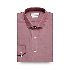 Red Herring - Big and tall red slim fit textured formal shirt