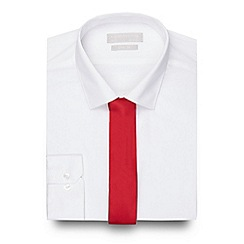Red Herring - Big and tall white slim fit shirt and red tie set
