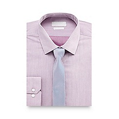 Red Herring - Light pink slim fit shirt and tie set