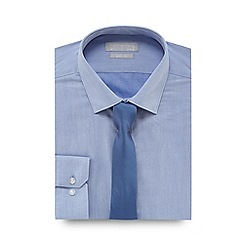Red Herring - Big and tall pale blue slim fit shirt and tie set