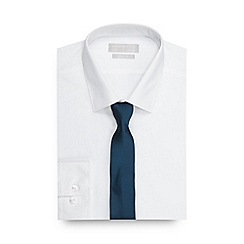 Red Herring - Big and tall white slim fit shirt with a tie