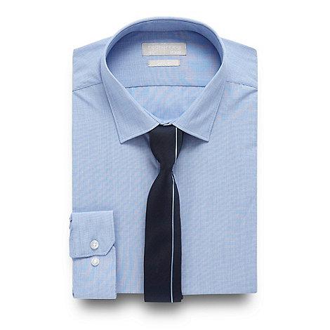 herring light blue slim fit shirt and navy tie set