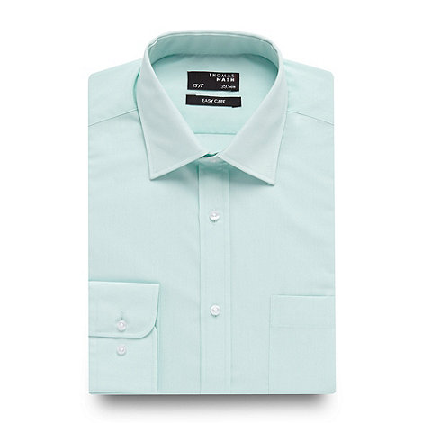 Thomas Nash - Big and tall light green essential formal shirt
