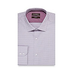 St George by Duffer - Big and tall lilac scratch textured slim fit shirt