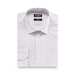 St George by Duffer - Lilac geometric dotted long sleeved shirt