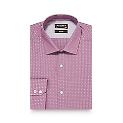 St George by Duffer - Pink diamond print slim fit shirt