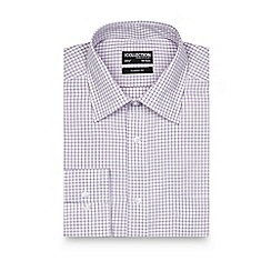 The Collection - Big and tall purple checked regular fit shirt