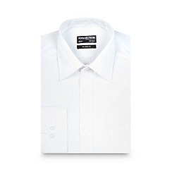 The Collection - White textured striped tailored fit shirt