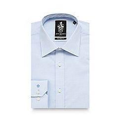 Jeff Banks - Big and tall light blue broken stripe tailored fit shirt