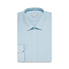 Red Herring - Turquoise gingham print slim fit shirt with extra-long sleeves and body