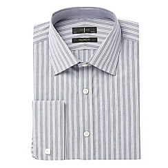 J by Jasper Conran - Big and tall navy long sleeved zigzag stripe shirt