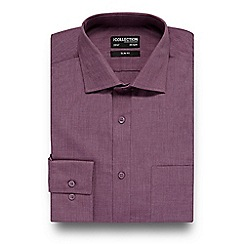 The Collection - Dark pink easy care slim fit shirt