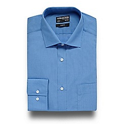 The Collection - Blue easy care slim fit shirt