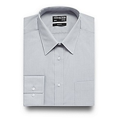 The Collection - Grey easy care slim fit shirt