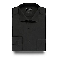 The Collection - Big and tall dark green easy care slim fit shirt