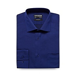 The Collection - Dark blue plain tailored fit shirt