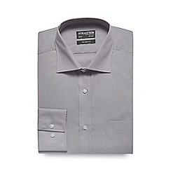 The Collection - Grey plain tailored fit shirt