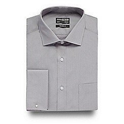 The Collection - Big and tall grey long sleeved tailored shirt