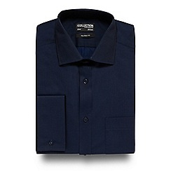 The Collection - Big and tall navy tonic tailored fit shirt