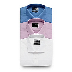 The Collection - Big and tall pack of three assorted easy care slim fit shirts