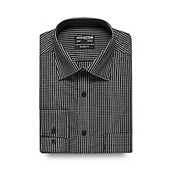 The Collection - Big and tall black checked print tailored fit shirt