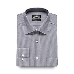 The Collection - Navy striped print regular fit shirt