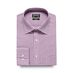 The Collection - Big and tall lilac dogtooth print tailored fit shirt