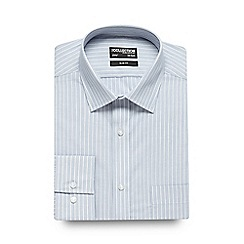 The Collection - Blue striped print slim fit shirt