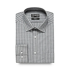 The Collection - Grey checked print slim fit shirt