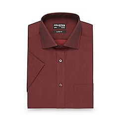 The Collection - Red tonic regular fit shirt