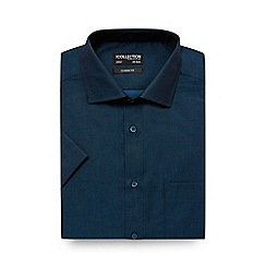 The Collection - Big and tall turquoise tonic regular fit shirt
