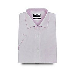 The Collection - Big and tall pink short sleeved regular fit shirt