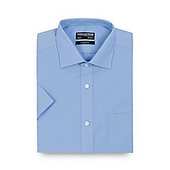 The Collection - Big and tall light blue short sleeved regular fit shirt