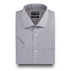 The Collection - Grey short sleeved regular fit shirt